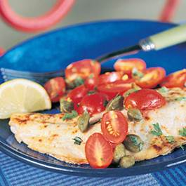 Baked Snapper with Tomatoes and Capers